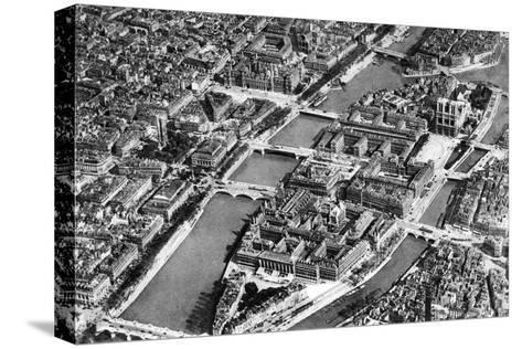 General View of the Isle De La Cite, Paris, 1931-Ernest Flammarion-Stretched Canvas Print