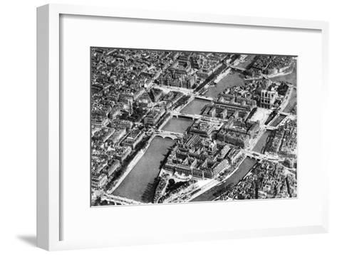 General View of the Isle De La Cite, Paris, 1931-Ernest Flammarion-Framed Art Print