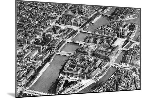 General View of the Isle De La Cite, Paris, 1931-Ernest Flammarion-Mounted Giclee Print