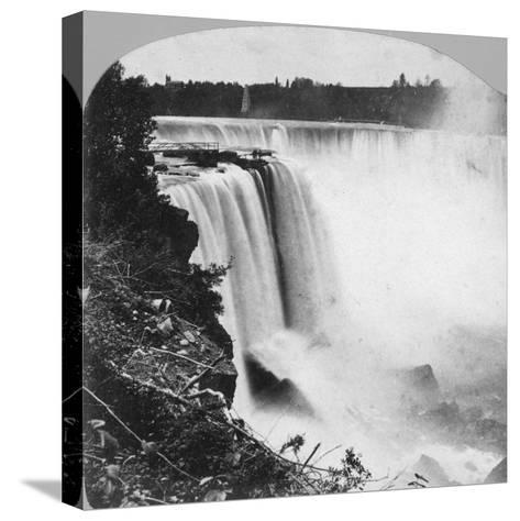 Horseshoe Falls as Seen from Goat Island, Niagara Falls, Early 20th Century-George Barker-Stretched Canvas Print