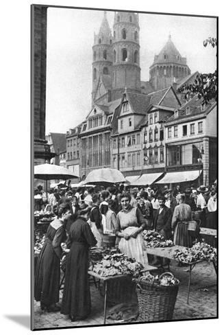 The Market Place at Worms Cathedral, Worms, Germany, 1922-Donald Mcleish-Mounted Giclee Print