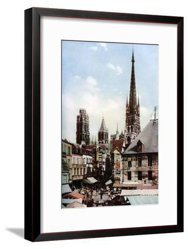 Rouen Cathedral, Normandy, France, C1930S-Donald Mcleish-Framed Art Print