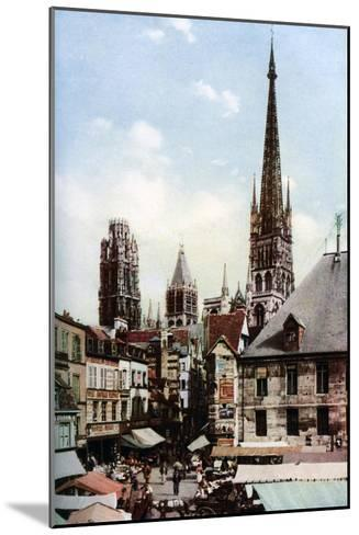 Rouen Cathedral, Normandy, France, C1930S-Donald Mcleish-Mounted Giclee Print