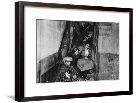 A Staircase in a Night Shelter, Paris, 1931-Ernest Flammarion-Framed Art Print
