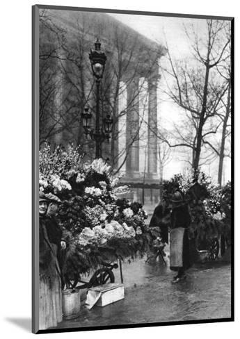 Flower Market at the Madeleine, Paris, 1931-Ernest Flammarion-Mounted Giclee Print