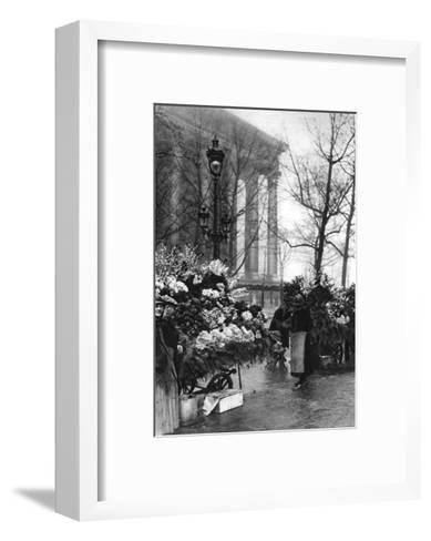 Flower Market at the Madeleine, Paris, 1931-Ernest Flammarion-Framed Art Print
