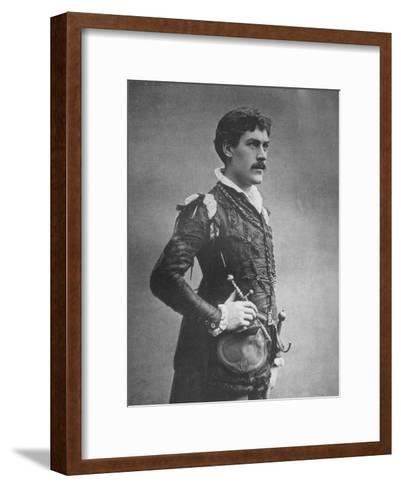 George Alexander, British Actor and Theatre Manager, as 'Faust, 1887-Ernest Barraud-Framed Art Print