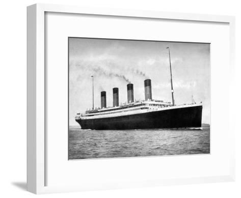 RMS Olympic, White Star Line Ocean Liner, 1911-1912-FGO Stuart-Framed Art Print
