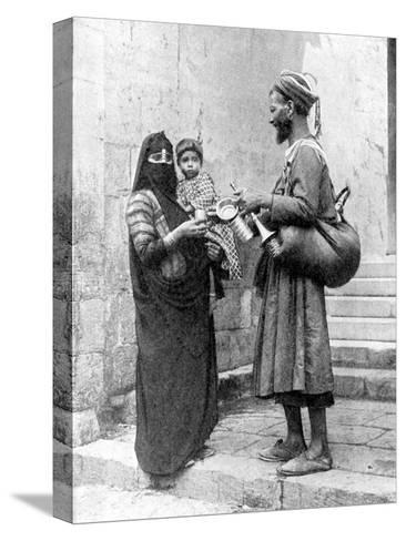 A Water Seller, Cairo, Egypt, 1936-Donald Mcleish-Stretched Canvas Print