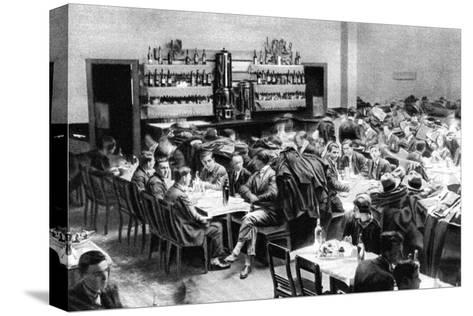 Restaurant for Students, Paris, 1931-Ernest Flammarion-Stretched Canvas Print