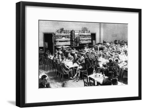 Restaurant for Students, Paris, 1931-Ernest Flammarion-Framed Art Print