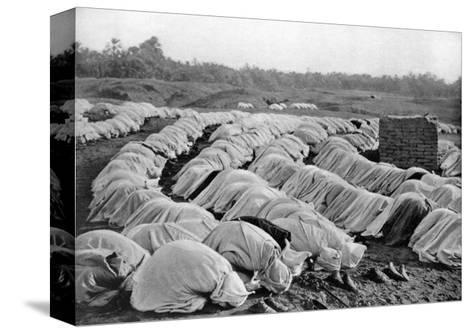 Muslims at Prayer, Algeria, 1920-Biskra Frechon-Stretched Canvas Print