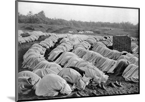 Muslims at Prayer, Algeria, 1920-Biskra Frechon-Mounted Giclee Print