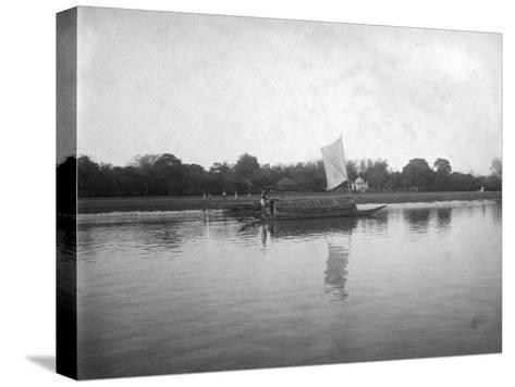 Hooghly River, Alipore, India, 1905-1906-FL Peters-Stretched Canvas Print