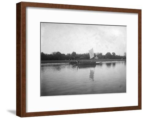 Hooghly River, Alipore, India, 1905-1906-FL Peters-Framed Art Print