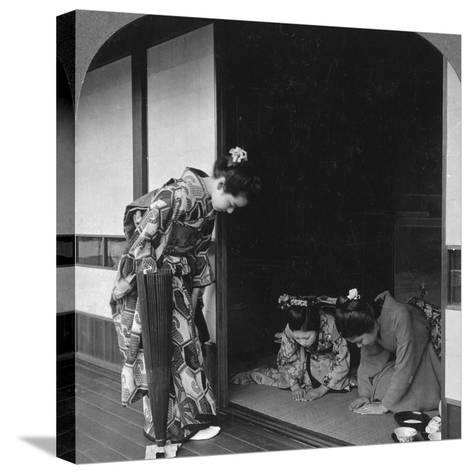 Three Japanese Women, Japan, 1905-BL Singley-Stretched Canvas Print
