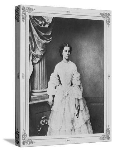 Empress Elisabeth of Austria, 1857-Franz Hanfstaengl-Stretched Canvas Print