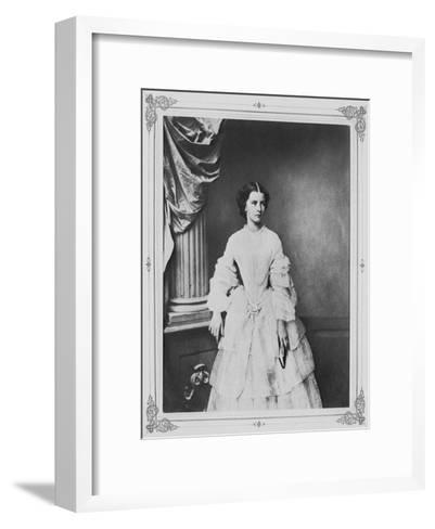 Empress Elisabeth of Austria, 1857-Franz Hanfstaengl-Framed Art Print
