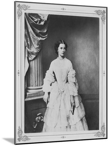 Empress Elisabeth of Austria, 1857-Franz Hanfstaengl-Mounted Giclee Print