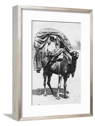 A Girl on a Camel Litter, Algeria, 1922- Crete-Framed Art Print