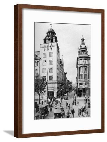 Street, Copenhagen, Denmark, C1922-Edward Galloway-Framed Art Print