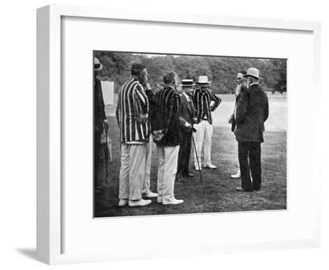 Royal Cricketers at Cumberland Lodge, Windsor Great Park, Berkshire, 1911-Ernest Brook-Framed Art Print