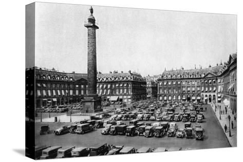 Place Vendome and the Column Erected to Napoleon's Victories, Paris, 1931-Ernest Flammarion-Stretched Canvas Print