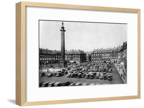 Place Vendome and the Column Erected to Napoleon's Victories, Paris, 1931-Ernest Flammarion-Framed Art Print
