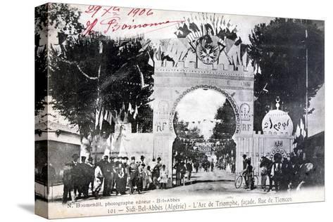 Arc De Triomphe Facade, Sidi Bel Abbes, Algeria, 14 July 1906- Boumendil-Stretched Canvas Print