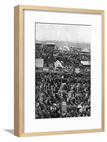 Crowds on Derby Day, Epsom Downs, Surrey, C1922-Horace Walter Nicholls-Framed Art Print