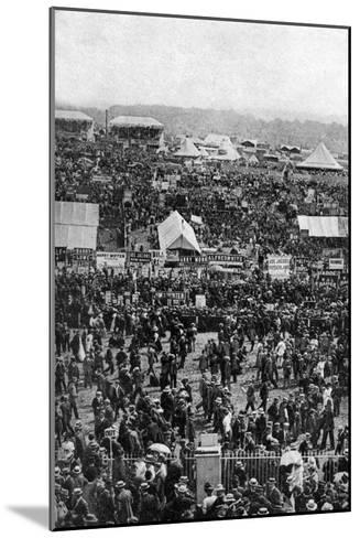 Crowds on Derby Day, Epsom Downs, Surrey, C1922-Horace Walter Nicholls-Mounted Giclee Print