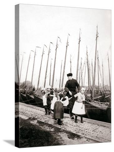 People of Marken Island, Netherlands, 1898-James Batkin-Stretched Canvas Print