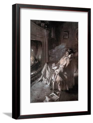 A Kiss from the Trenches-John E Sutcliffe-Framed Art Print