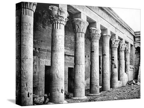 Eastern Columns, Temple of Isis, Philae, Nubia, Egypt, 1887-Henri Bechard-Stretched Canvas Print