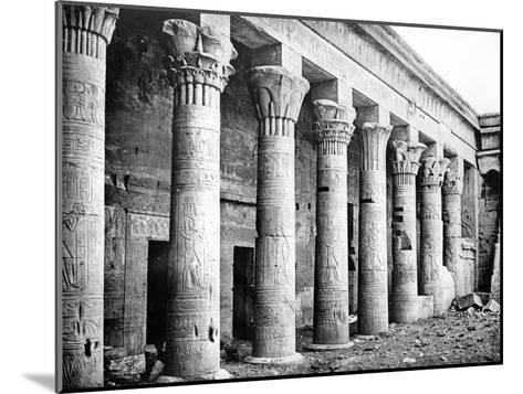 Eastern Columns, Temple of Isis, Philae, Nubia, Egypt, 1887-Henri Bechard-Mounted Giclee Print
