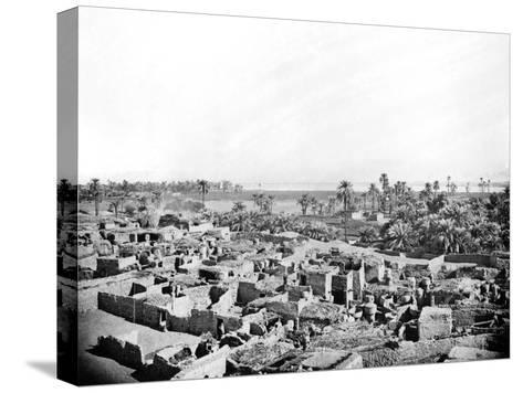 Village at Karnak, Nubia, Egypt, 1887-Henri Bechard-Stretched Canvas Print
