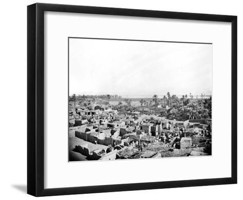 Village at Karnak, Nubia, Egypt, 1887-Henri Bechard-Framed Art Print