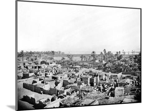 Village at Karnak, Nubia, Egypt, 1887-Henri Bechard-Mounted Giclee Print