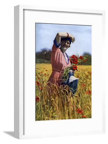 The English Rose, C1922-Horace Walter Nicholls-Framed Art Print