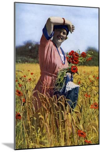 The English Rose, C1922-Horace Walter Nicholls-Mounted Giclee Print