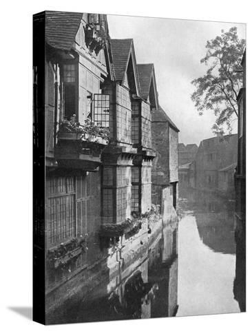 The Weavers' House by the River Stour, Canterbury, Kent, 1924-1926-HS Newcombe-Stretched Canvas Print
