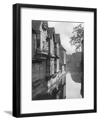 The Weavers' House by the River Stour, Canterbury, Kent, 1924-1926-HS Newcombe-Framed Art Print