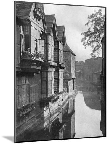 The Weavers' House by the River Stour, Canterbury, Kent, 1924-1926-HS Newcombe-Mounted Giclee Print