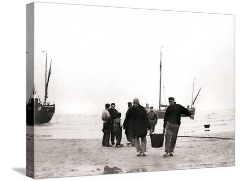 Men on the Shore, Scheveningen, Netherlands, 1898-James Batkin-Stretched Canvas Print