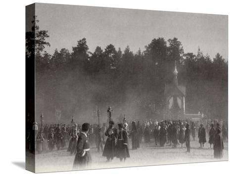 Easter Procession, Sarov Monastery, Russia, 1903-K von Hahn-Stretched Canvas Print