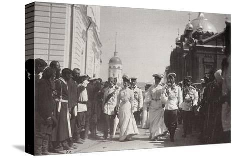 The Russian Royal Family Visiting Sarov Monastery, Russia, 1903-K von Hahn-Stretched Canvas Print