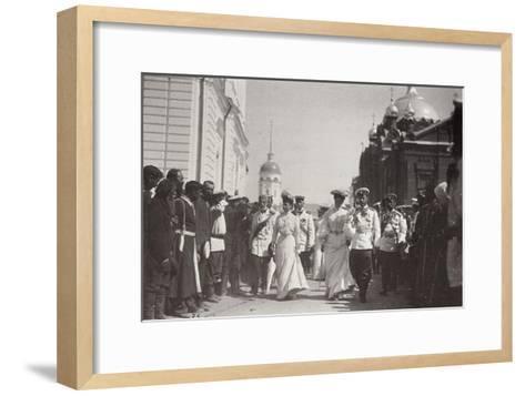 The Russian Royal Family Visiting Sarov Monastery, Russia, 1903-K von Hahn-Framed Art Print