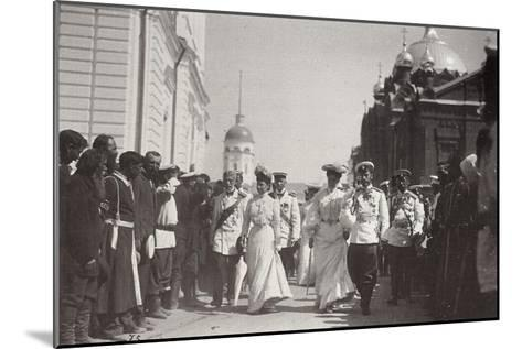 The Russian Royal Family Visiting Sarov Monastery, Russia, 1903-K von Hahn-Mounted Giclee Print