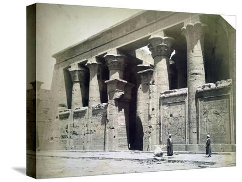 Temple Facade, Edfu, Egypt, 19th Century- Langaki-Stretched Canvas Print