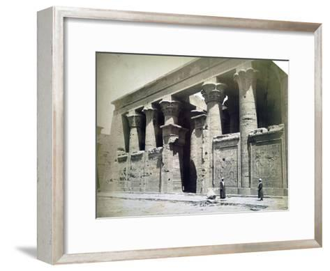 Temple Facade, Edfu, Egypt, 19th Century- Langaki-Framed Art Print